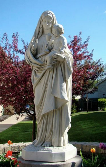 Statue in Front of School