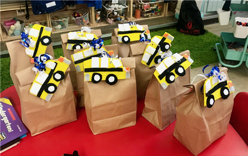 Bags Created by Kindergarteners for Bus Drivers