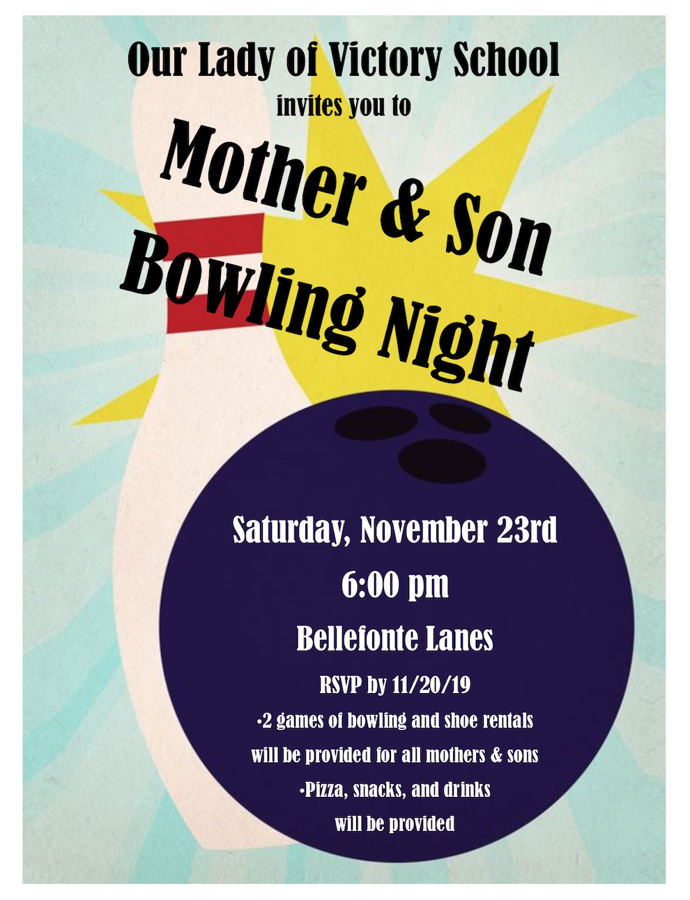 RSVP to Hit Those Strikes at Mother-Son Bowling